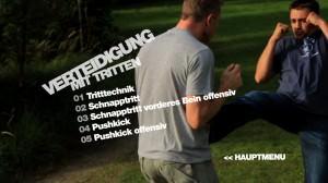 Selbstverteidigung mit Tritten - DVD Menü